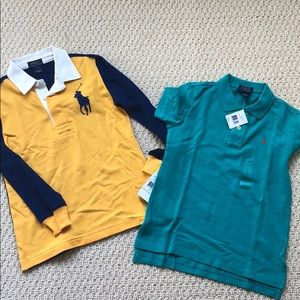 BNWT Lot of 2 Polos- Sz 7 1/S and 1 L/S